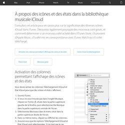 iTunesMatch: présentation des icônes d'état iCloud