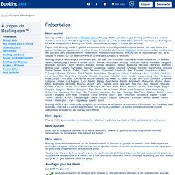 À propos de Booking.com.