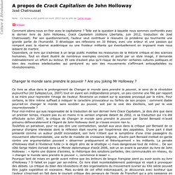 A propos de Crack Capitalism de John Holloway