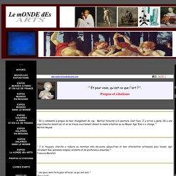 Propos et Citations sur l'art .