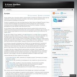 E-Gouv Québec