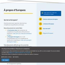 À propos d'Europass