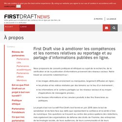 À propos - First Draft News FR