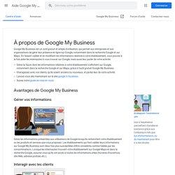 À propos de Google MyBusiness - Aide GoogleMyBusiness
