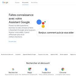 À propos de Google - Produits