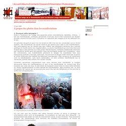 A propos des photos dans les manifestations - Secours Rouge