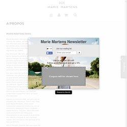 A propos - e-Shop Marie Martens Paris