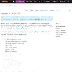 À propos de Moodle