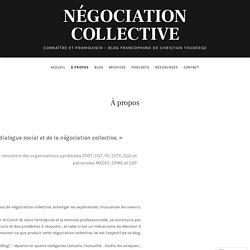 À propos – Négociation collective