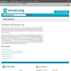 3 – Revues.org : portail de revues en sciences humaines et sociales