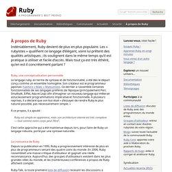 À propos de Ruby