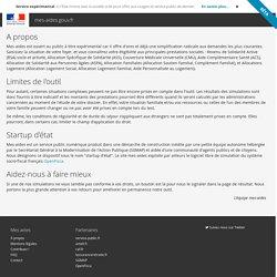 A propos - Simulez toutes vos aides en ligne - mes-aides.gouv.fr