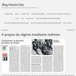 A propos du régime totalitaire stalinien