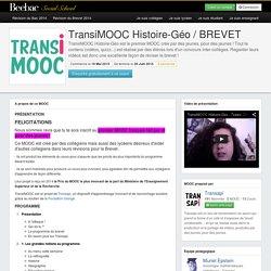 A propos du MOOC TransiMOOC Histoire-Géo / BREVET