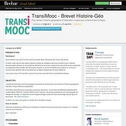 A propos du MOOC TransiMooc - Brevet Histoire-Géo