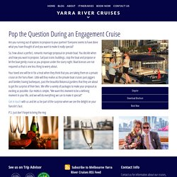 Proposal Boat Cruise Yarra River