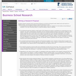 PHD Proposal - Nottingham University Business School