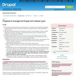 Proposal to manage the Drupal core release cycle [#2135189]