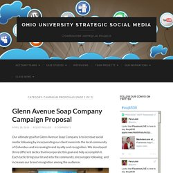 Campaign Proposals – Ohio University Strategic Social Media