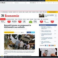 Renault innove en proposant le télétravail à ses salariés