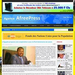L'Egypte propose une coopération avec le Port Autonome de Lomé
