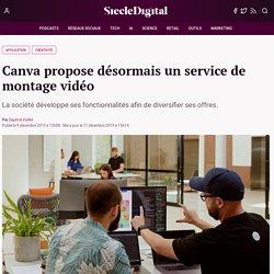 Canva propose désormais un service de montage vidéo