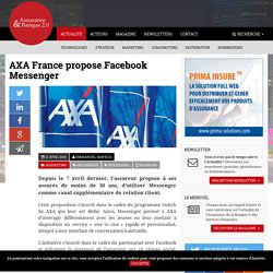 AXA France propose Facebook Messenger