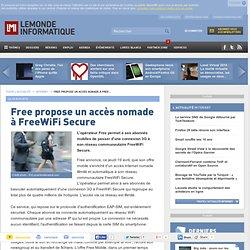 Free propose un accès nomade à FreeWiFi Secure