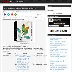 Adobe propose gratuitement sa suite de logiciels CS2