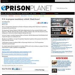 U.S. to propose mandatory vehicle 'black boxes'