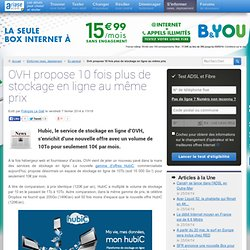 OVH propose 10 fois plus de stockage en ligne au même prix