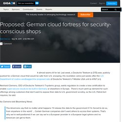 Proposed: German cloud fortress for security-conscious shops