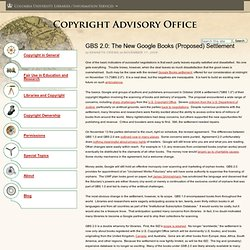 GBS 2.0: The New Google Books (Proposed) Settlement