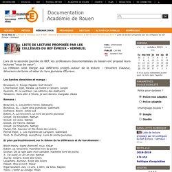 Liste de lecture proposée par les collègues du bef Évreux - Verneuil