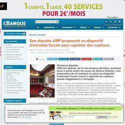 Des députés UMP proposent un dispositif d'amnistie fiscale