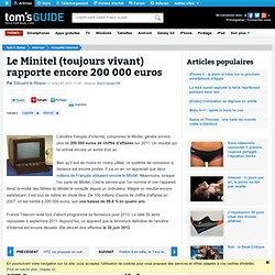 Le Minitel (toujours vivant) rapporte encore 200 000 euros