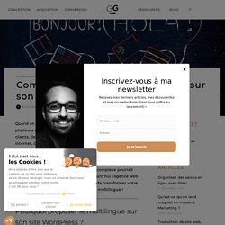 Comment proposer le multilingue sur son site WordPress ?