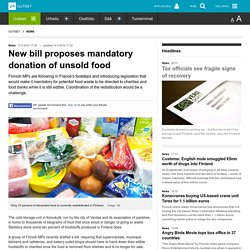 New bill proposes mandatory donation of unsold food