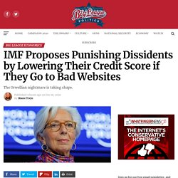 IMF Proposes Punishing Dissidents by Lowering Their Credit Score if They Go to Bad Websites