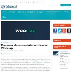 Proposez des cours interactifs avec Wooclap