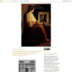 Poesía, intemperie: Una modesta proposición: diez reflexiones en torno a la enseñanza de la lengua y literatura en el sistema educativo español
