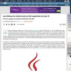 Les littéraux de chaîne bruts ont été supprimés de Java 12 comme l'a suggéré la proposition d'amélioration JDK (JEP)