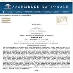 1960 - Proposition de loi de M. Jean-Marc Ayrault relative au droit de finir sa vie dans la dignité
