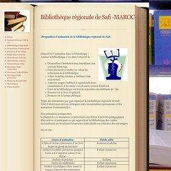 Proposition d'animation - Bibliothèque régionale de Safi -MAROC-