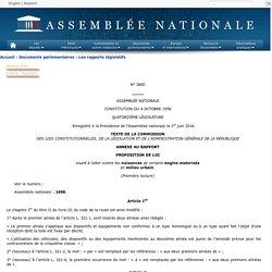 N°3800 annexe 0 - Rapport sur la proposition de loi de MM. Bruno Le Roux, Rémi Pauvros et plusieurs de leurs collègues visant à lutter contre les nuisances de certains engins motorisés en milieu urbain (1698).