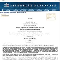 1248 - Proposition de loi constitutionnelle de M. Nicolas Dupont-Aignan tendant à instituer un référendum d'initiative citoyenne