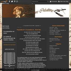 Proposition 91 - A la manière de.... Boris Vian - Atelier d'écriture créative