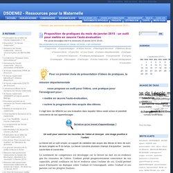 Proposition de pratiques du mois de janvier 2015 : un outil pour mettre en oeuvre l'auto-évaluation