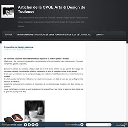 design galénique (médicaments)