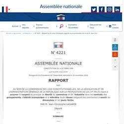 4221 - Rapport de M. Jean-Christophe Lagarde sur la ...